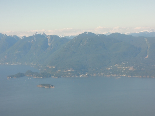Heading into the Salish Sea with Horseshoe Bay and West Van in the distance